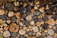Fondo de la madera derramada redonda Imagen de archivo libre de regalías