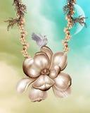 Fondo de la magnolia Fotografía de archivo libre de regalías