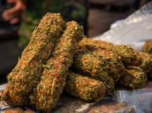 Fondo de la marijuana Fotografía de archivo
