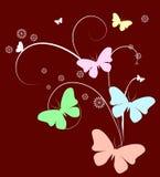 Fondo de la mariposa Fotografía de archivo libre de regalías
