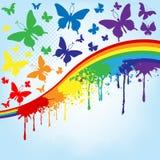 Fondo de la mariposa Imagenes de archivo