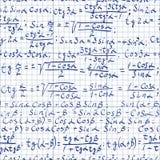 Fondo de la matemáticas Fotos de archivo