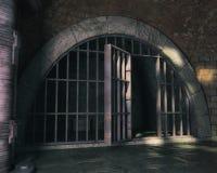 Fondo de la mazmorra 3D Fotos de archivo libres de regalías