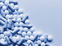 Fondo de la medicina de las píldoras Foto de archivo