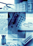 Fondo de la medicina y de la farmacia Imágenes de archivo libres de regalías