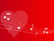 Fondo de la melodía del amor stock de ilustración
