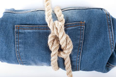 Fondo de la mezclilla azul Textura azul de los pantalones vaqueros del dril de algodón Fondo de los pantalones vaqueros Fotos de archivo