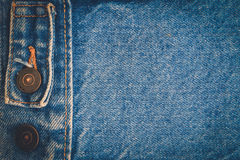 Fondo de la mezclilla del dril de algodón Foto de archivo