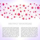 Fondo de la molécula Imagen de archivo libre de regalías
