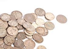 Fondo de la moneda Fotos de archivo libres de regalías