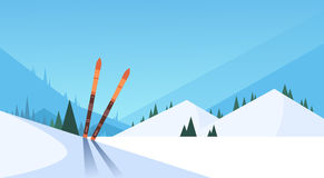 Fondo de la montaña de Ski In Snow Winter Sport Foto de archivo libre de regalías