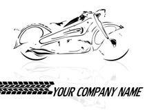 Fondo de la moto Fotografía de archivo