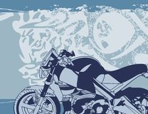 Fondo de la motocicleta Fotografía de archivo