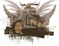 Fondo de la motocicleta de Grunge Fotografía de archivo libre de regalías