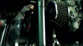 Fondo de la motocicleta del interruptor Detalle de la moto del vintage metrajes