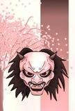 Fondo de la máscara del demonio Fotografía de archivo