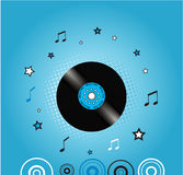 Fondo de la música con la placa del vinilo Imágenes de archivo libres de regalías