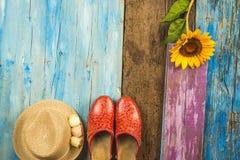 Fondo de la muchacha de las vacaciones de verano Imagen de archivo libre de regalías