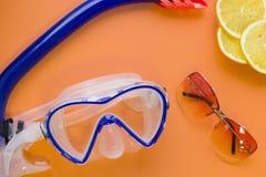 Fondo de la naranja del concepto de la playa Imagen de archivo