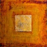 Fondo de la naranja y del oro Fotos de archivo
