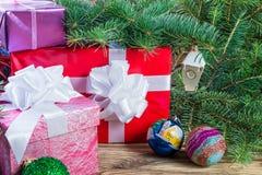 Fondo 05 de la Navidad Foto de archivo libre de regalías
