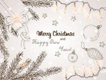 Fondo 2 de la Navidad Imagen de archivo