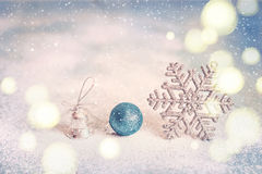 Fondo de la Navidad abstracta azul mágica del brillo y del Año Nuevo Foto de archivo