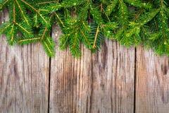 Fondo de la Navidad abstracta y del Año Nuevo con madera vieja del vintage Fotografía de archivo