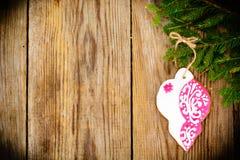 Fondo de la Navidad abstracta y del Año Nuevo con madera vieja del vintage Imagen de archivo