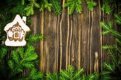 Fondo de la Navidad abstracta y del Año Nuevo con madera vieja del vintage Fotos de archivo libres de regalías