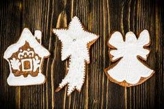 Fondo de la Navidad abstracta y del Año Nuevo con madera vieja del vintage Fotografía de archivo libre de regalías