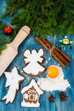 Fondo de la Navidad abstracta y del Año Nuevo con madera vieja del vintage Imagenes de archivo