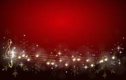 Fondo de la Navidad adornado con las notas de la música libre illustration