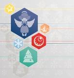 Fondo de la Navidad con ángel Imagen de archivo