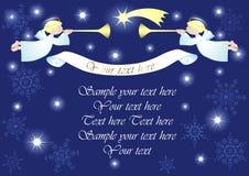 Fondo de la Navidad con ángeles Foto de archivo libre de regalías