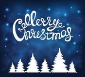 Fondo de la Navidad con caligrafía Imagen de archivo libre de regalías