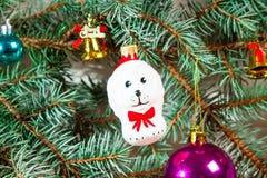Fondo de la Navidad con la decoración Imágenes de archivo libres de regalías