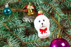 Fondo de la Navidad con la decoración Fotos de archivo
