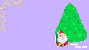 Fondo de la Navidad con el árbol de abeto Imágenes de archivo libres de regalías