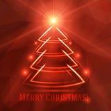 Fondo de la Navidad con el árbol de abeto Fotografía de archivo libre de regalías