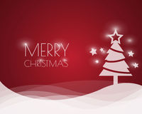 Fondo de la Navidad con el árbol de navidad, ilustración del vector Imagen de archivo