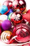 Fondo de la Navidad con el centelleo chispeante Christma colorido Foto de archivo libre de regalías