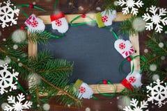 Fondo de la Navidad con el copia-espacio Fotografía de archivo libre de regalías