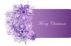 Fondo de la Navidad con el copo de nieve Fotos de archivo libres de regalías