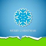 Fondo de la Navidad con el copo de nieve Fotografía de archivo