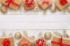 Fondo de la Navidad con el espacio en blanco para el texto de saludo Imagenes de archivo