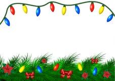 Fondo de la Navidad con el espacio vacío ilustración del vector