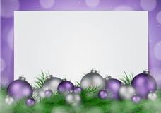 Fondo de la Navidad con el espacio vacío para la imagen y el vector del texto Imagen de archivo libre de regalías