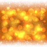 Fondo de la Navidad con el marco de los copos de nieve libre illustration