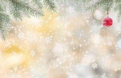 Fondo de la Navidad con el muñeco de nieve libre illustration